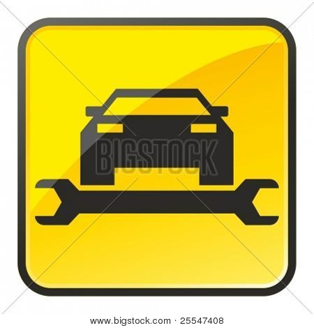 Auto repair shop sign. Vector illustration.