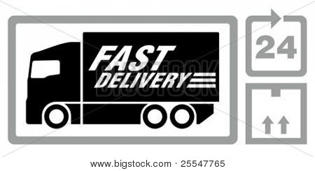Fast delivery truck.