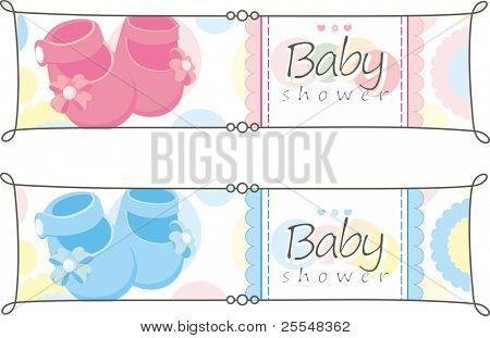 newborn horizontal banners set