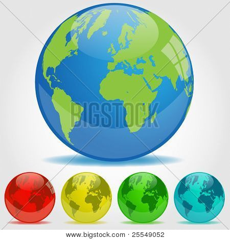 Earth Orbs Illustration
