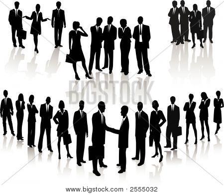Business Menschen Silhouette vektor