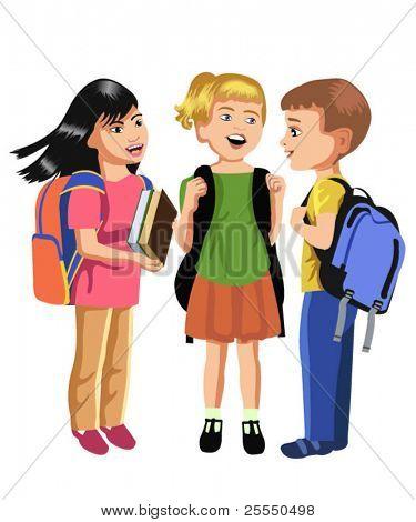 pupils talking