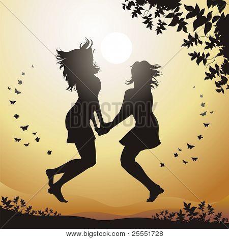 Happiness. (vector illustration)