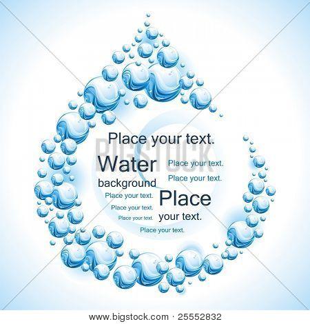 Water frame. Drop. Vector illustration.