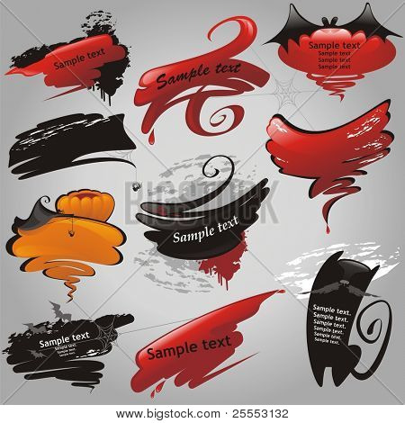 Halloween banners collectie. (vectorillustratie)