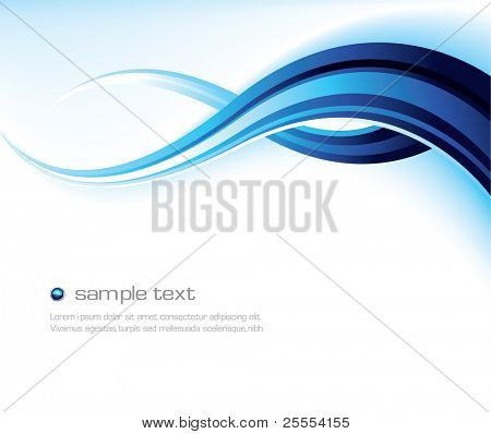 Abstract wavy vector design in blue and white