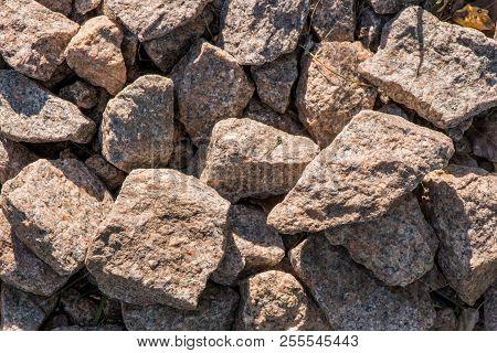 Granite Stones Stones Closeup Granite