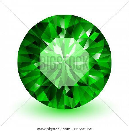 Esmeralda - vector ilustración de piedras preciosas
