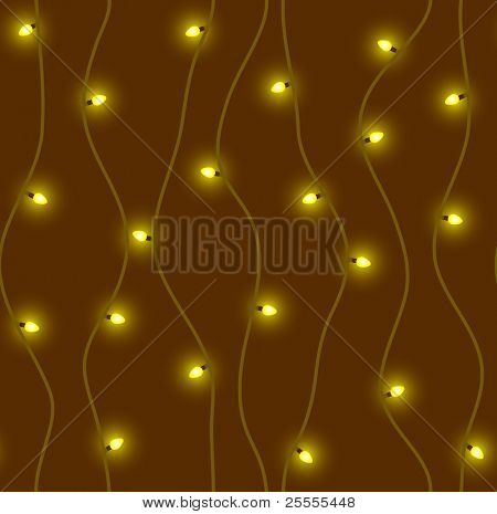 Warm neon lights - seamless vector pattern (raster version)