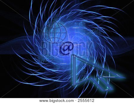 Blue Www / Internet Design / Background Ii