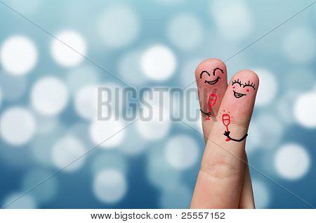 Happy finger hug