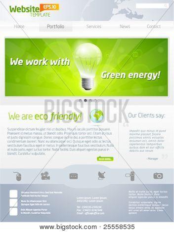 Öko-Unternehmen Webseite Vorlage Auszahlung