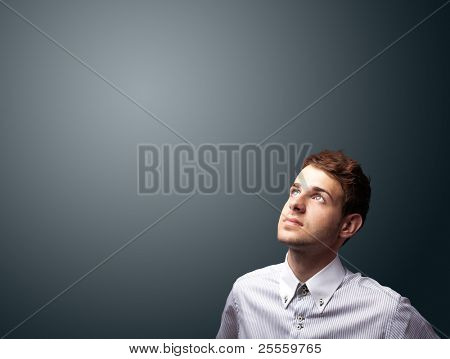 Portrait of a handsome businessman with copyspace