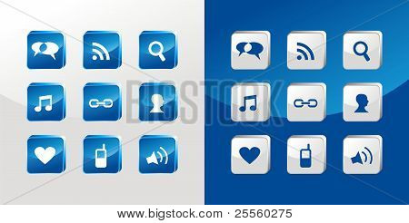Social Media Icons Glass