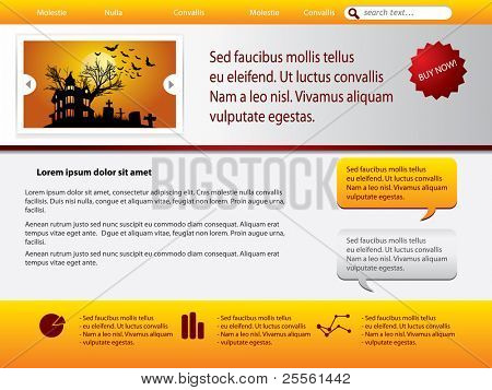 Webpage template with halloween theme