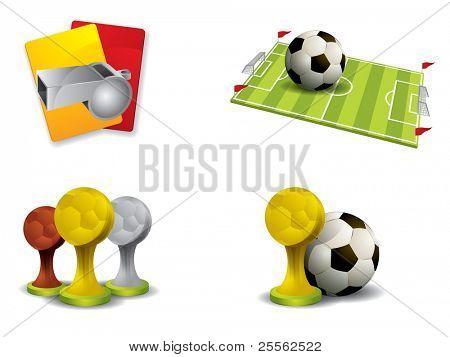 Soccer-Symbol set Vektor
