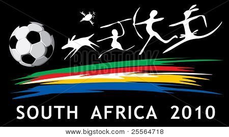 vector soccer background in African style