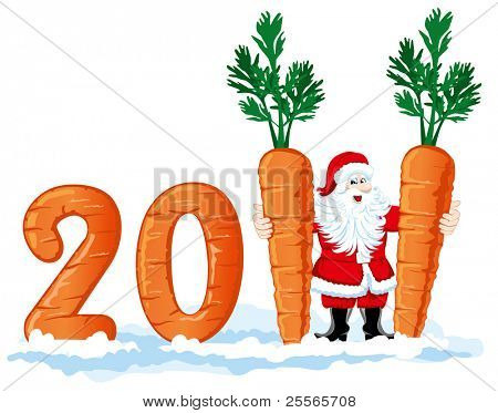 2011 figures from the carrots, the wish fulfillment of all desires in the new year