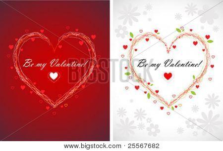 fundos de cartões de corações de swirly valentines (proporção de papel de carta de porte)