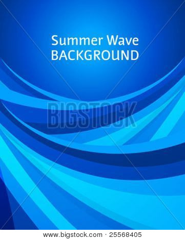 Abstract summer background with blue ocean waves