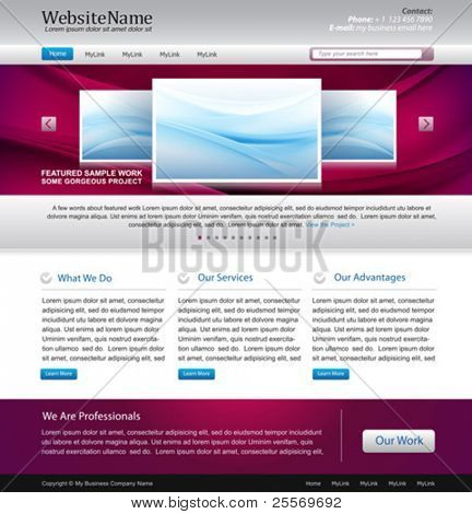 awesome website design template - easy editable