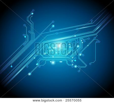 circuit board eye conceptual background - JPG version