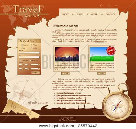 red Vector Web site for travel agency