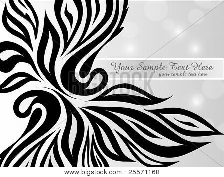 vector abstract black-and-white background