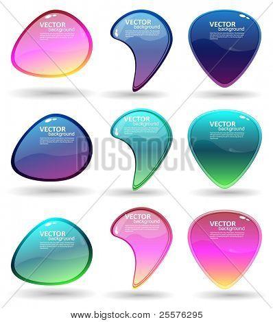 Vector de burbujas de discurso eps10