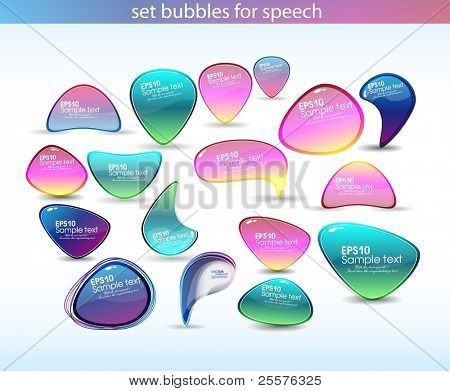 set bubbles for speech.vector eps10