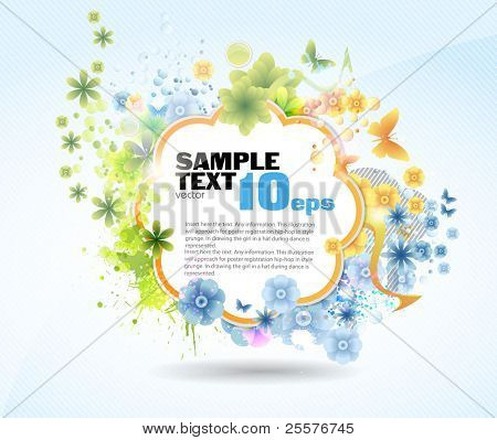 Abstract flower background. Vector.