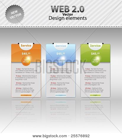web discount cards. Vector Illustration