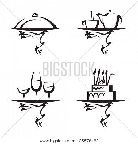 restaurants icon set