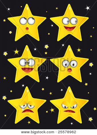 Stars. Little stars on a black background.