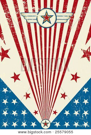 Patriotic scratch poster. A new patriotic background for a poster.
