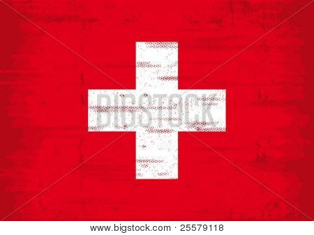 Grunge swiss flag  A swiss flag with a grunge texture