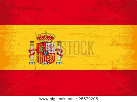 Spanish grunge flag. A flag of spain with a texture.
