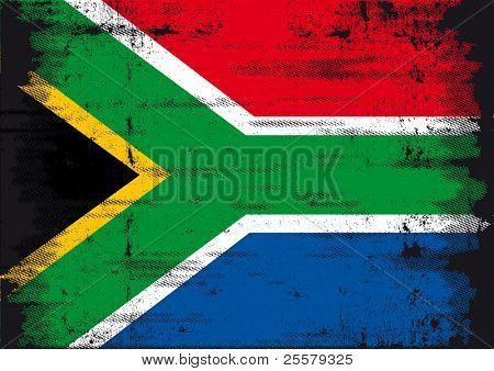 South African flag. A grunge South African flag for you