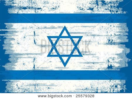 Israel Grunge Flag. A Grunge Flag Of Israël With A Texture