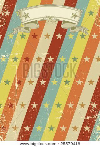 cartel del patrón de estrellas vintage. Un diseño vintage para un póster retro