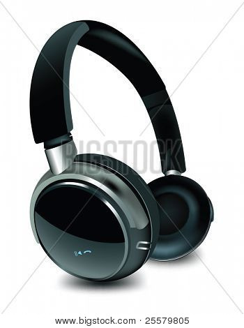 Detailed vector headphone.