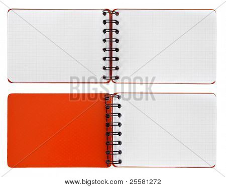 Page in a spiral bound notepads