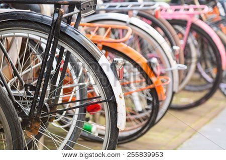 Bicycle Parking Lot In The