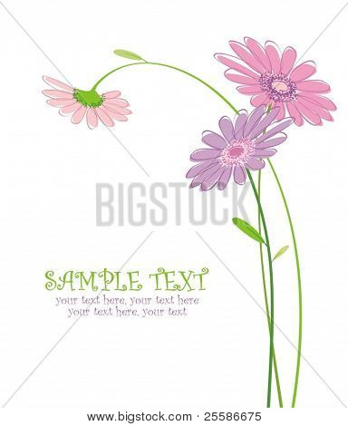 vector card with stylized flowers