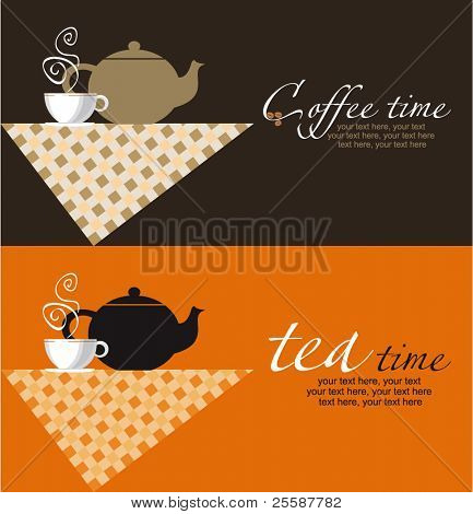 vector coffee and tea backgrounds