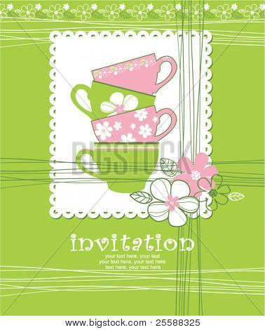 card with cups