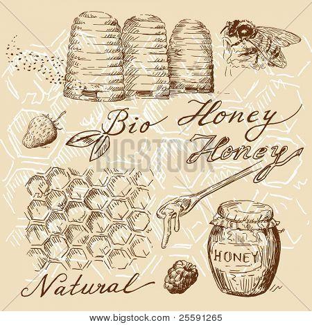 rabiscos de mel