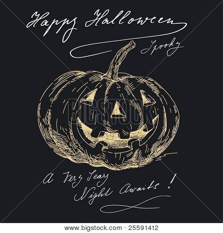 happy halloween in black