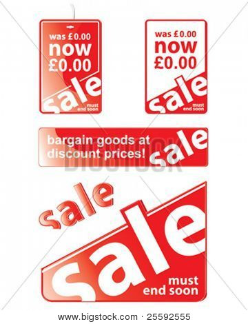 Create Swing Tags, Window Fronts and more advertising point of sale with these easy vectors.