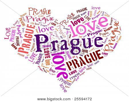 Love heart of  Prague